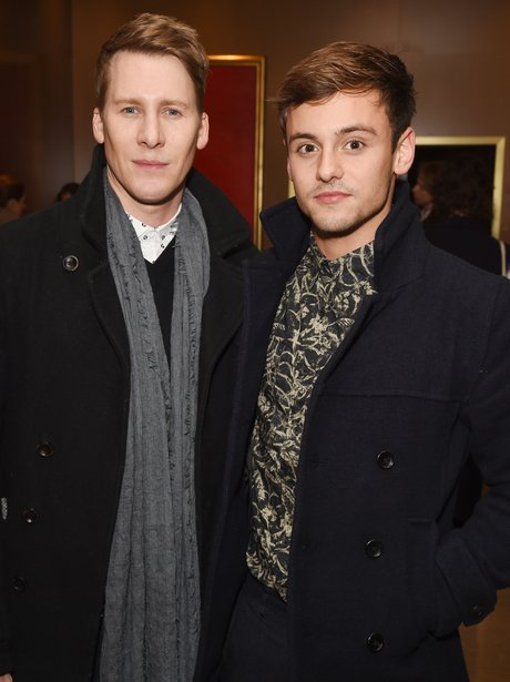 Tom Daley poses with his fiance
