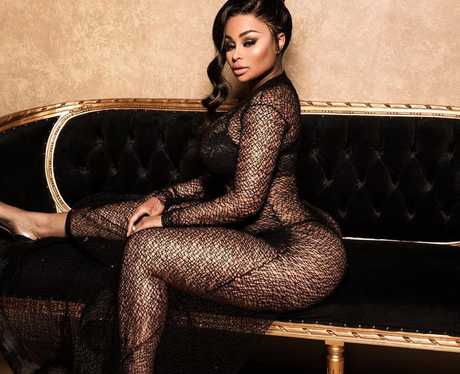 Blac Chyna in lace jumpsuit