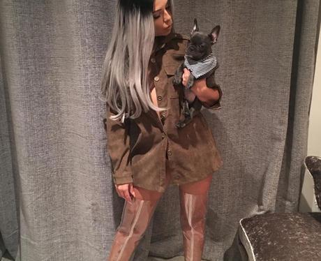 Cara De La Hoye shows off new grey hair