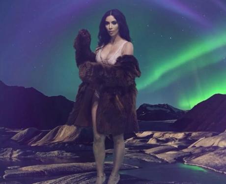 Kim Kardashian in the LOVE Magazine advent calenda