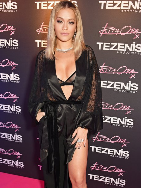 Rita Ora at a Tezenis event