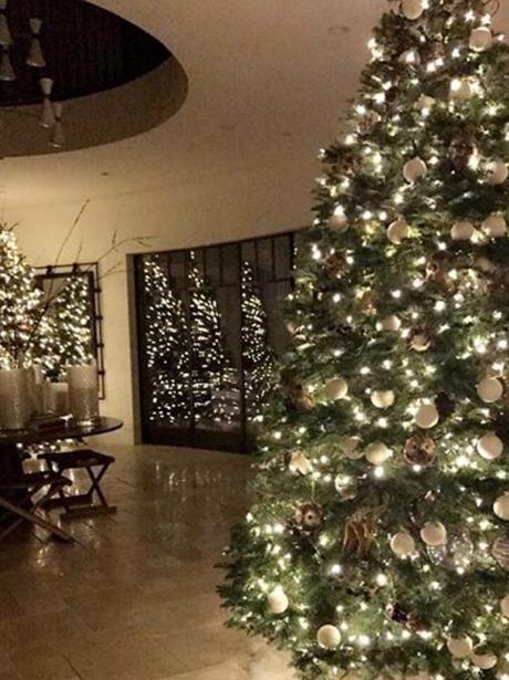 Kourtney Kardashian's Christmas trees