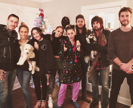 Liam Hemsworth celebrates Christmas with the Cyrus