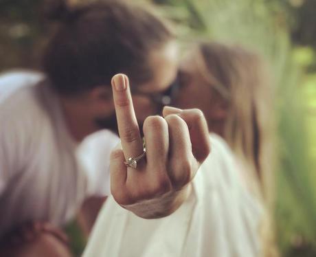 Margot Robbie shows off wedding ring