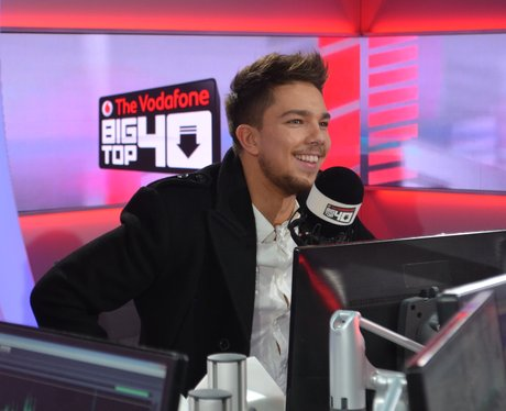 Matt Terry In the Big Top 40 studio