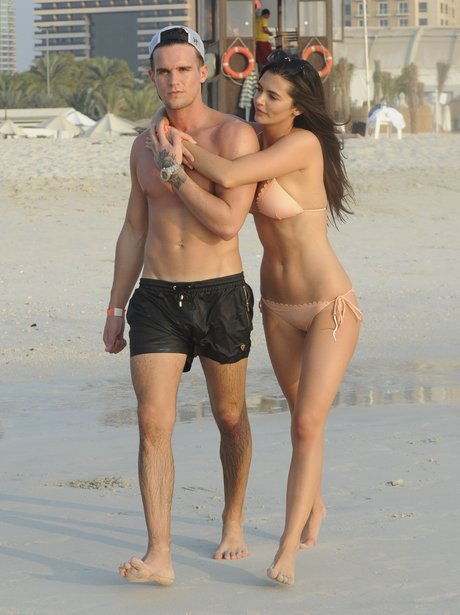 Emma McVey and Gaz Beadle on the beach in Dubai