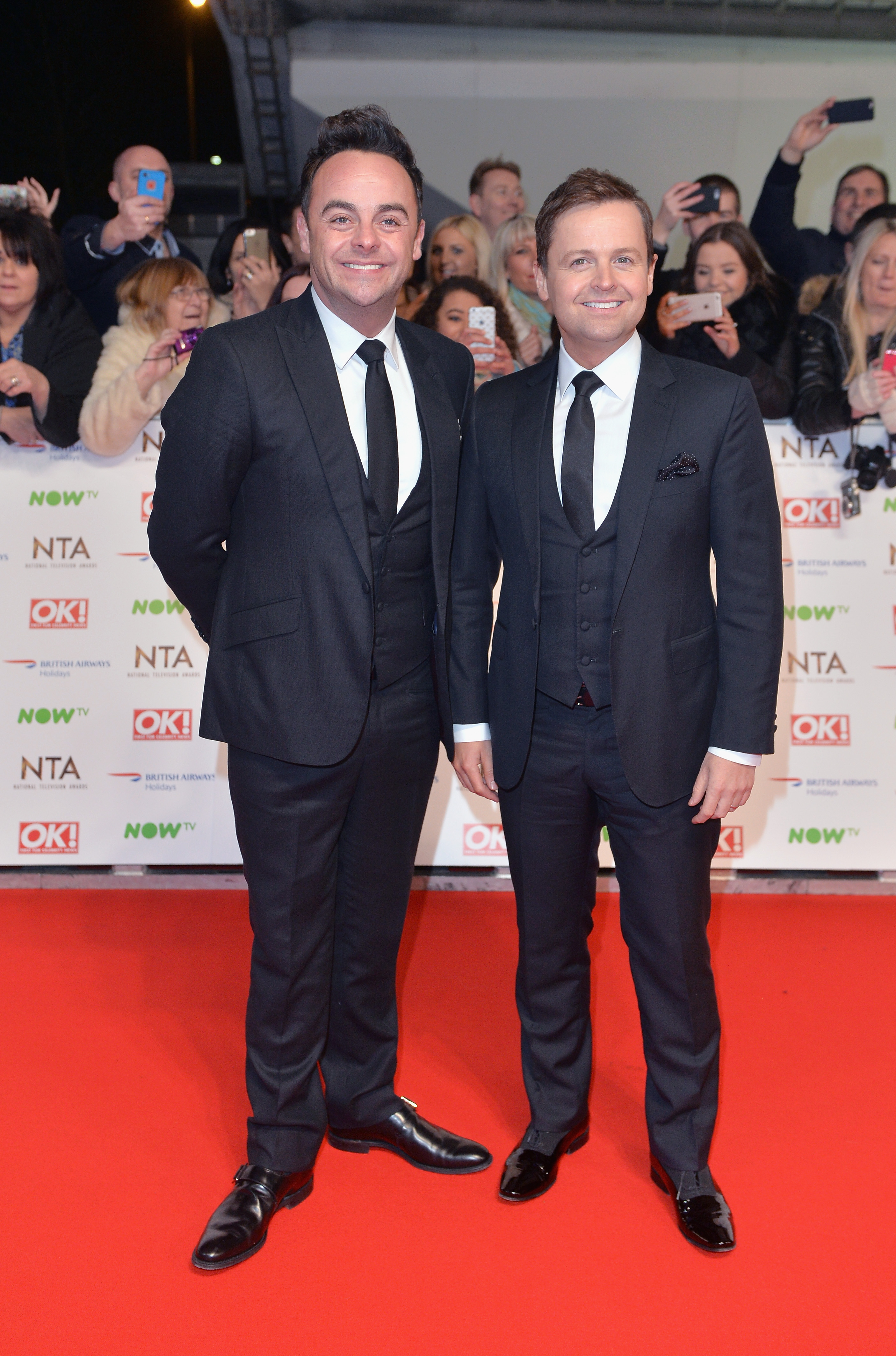 Ant & Dec - National Television Awards - Red Carpe