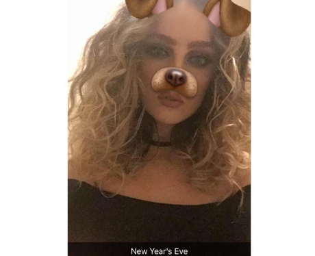 Perrie Edwards celebrates New Years Eve in working