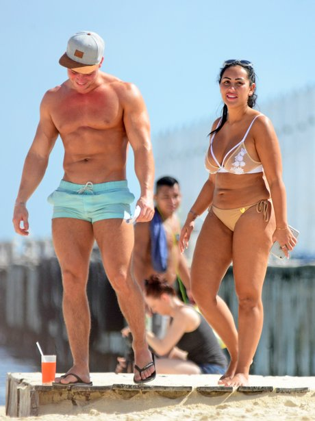 Sophie Kaseai and Joel Corry on holiday