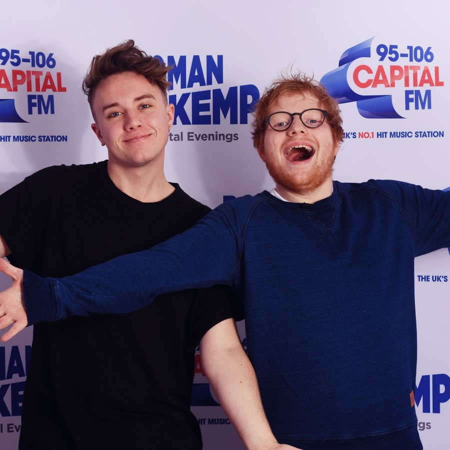 Ed Sheeran and Roman Kemp