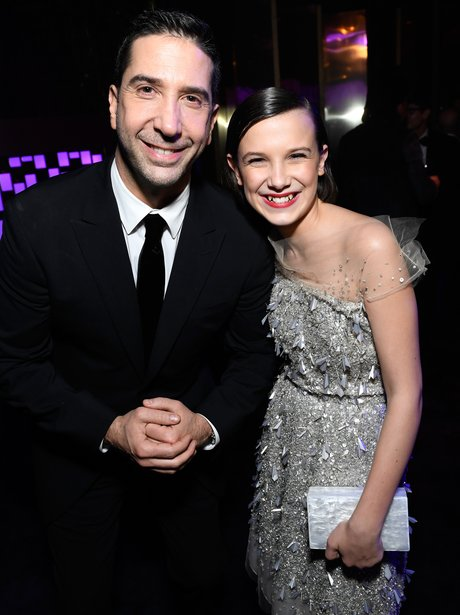 Golden Globes 2016 David Schwimmer and Milly Bobby