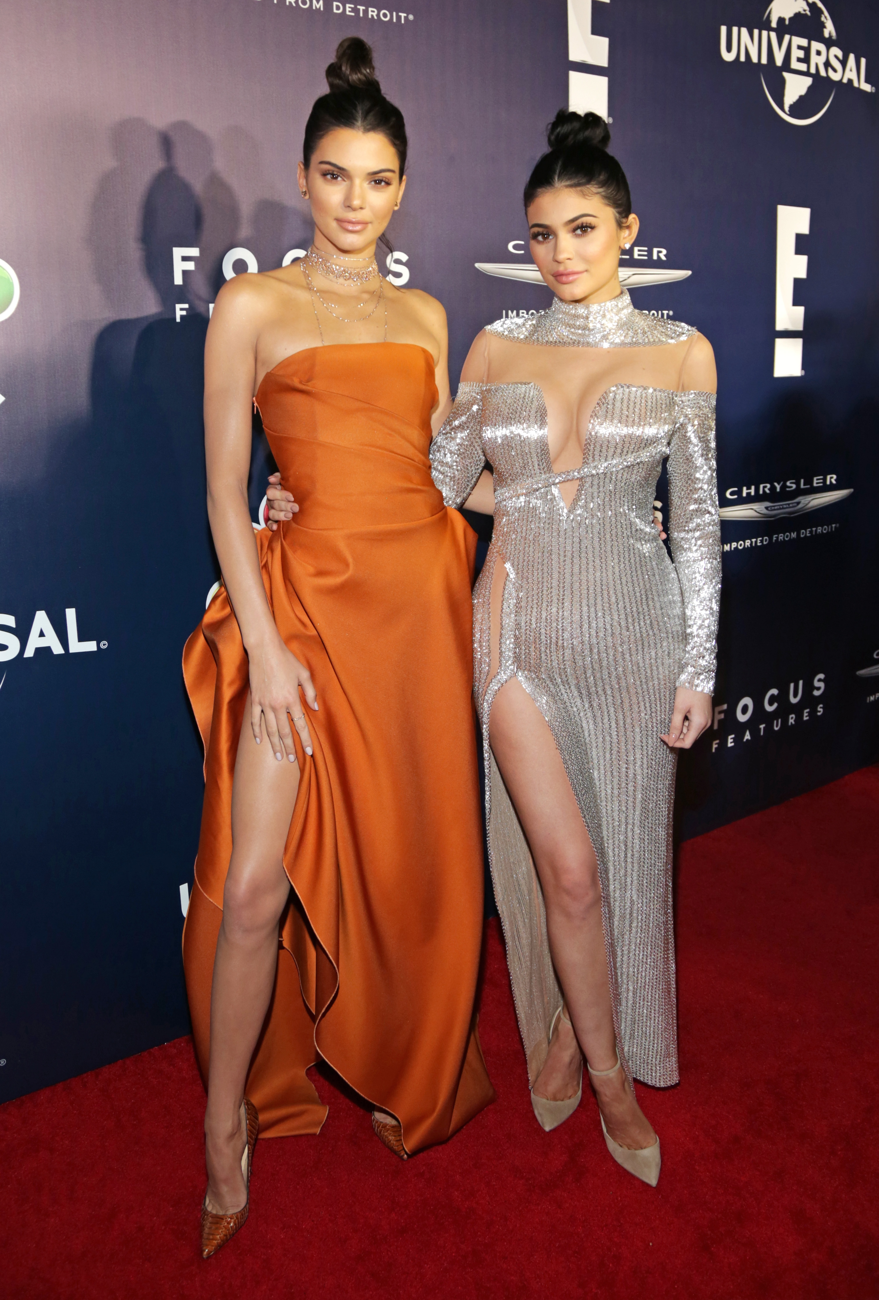 Kendall and Kylie Jenner at NBCUniversal's 74th An