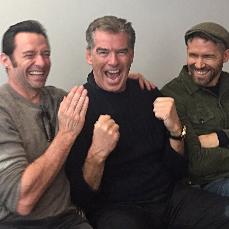 Hugh Jackman, Pierce Brosnan and Ryan Reynolds