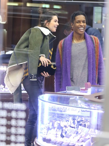 Kendall Jenner and A$AP Rocky go jewellery shoppin
