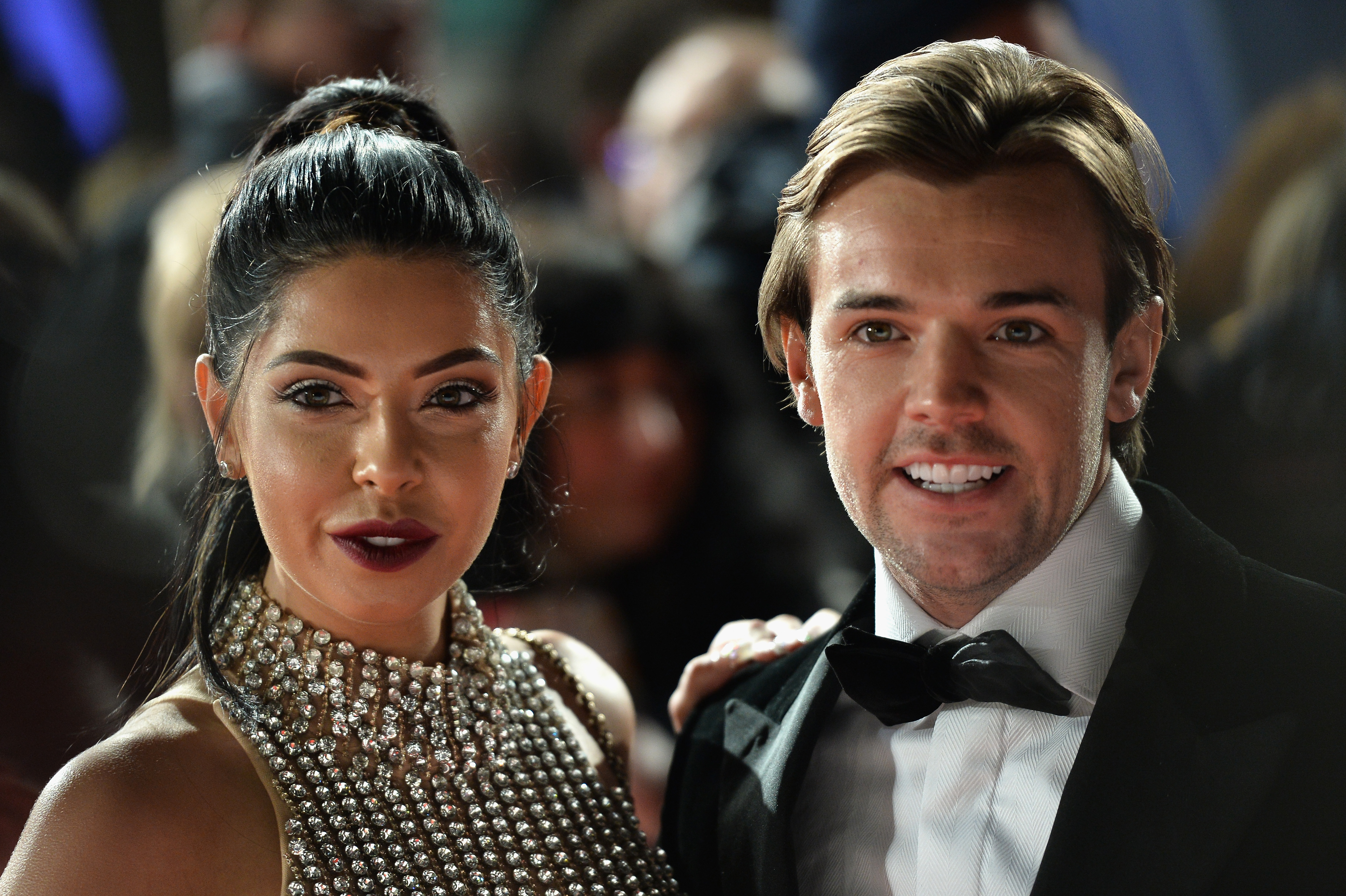 Cara De Hoyde and Nathan Massey at NTAs