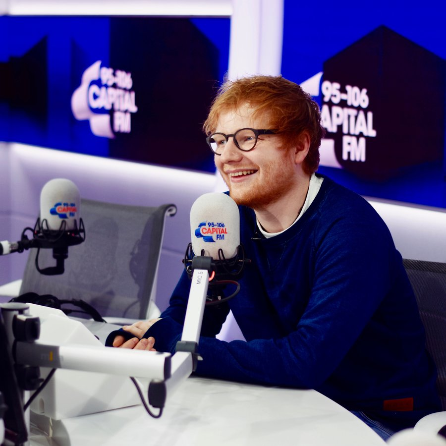Ed Sheeran with Roman Kemp