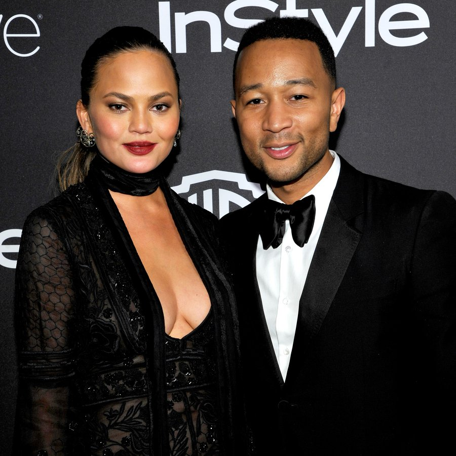 John Legend and Chrissy Teigen at The 2017 InStyle And Warner Bros. 73rd Annual Golden Globe Awards Post-Party
