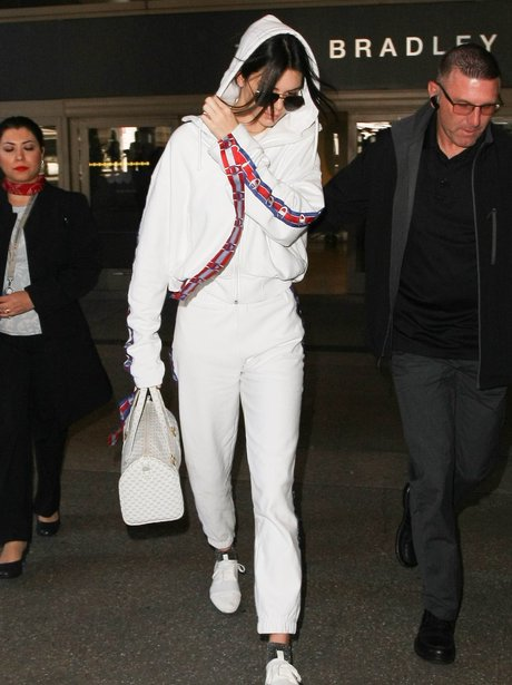 Kendall Jenner at LAX in trackies