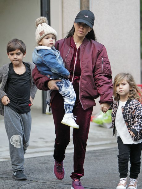 Kourtney Kardashian out and about with the kids