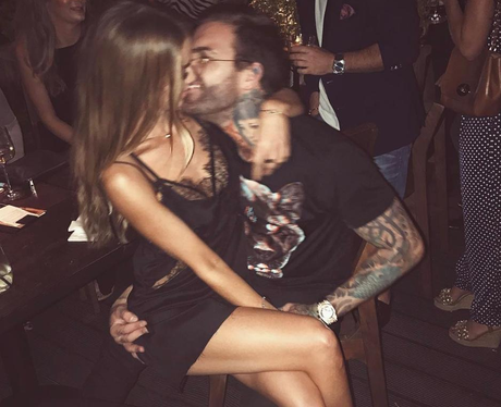 Lauren Pope and Aaron Chalmers on holiday