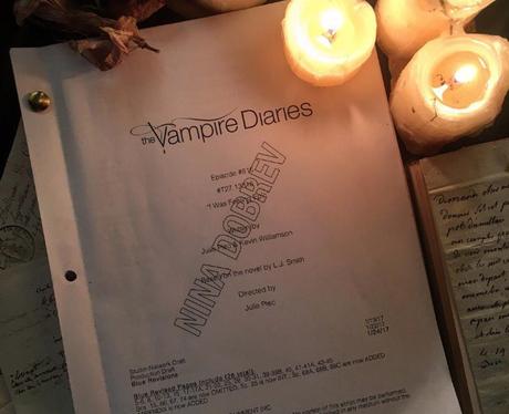Nina Dobrev back on set of The Vampire Diaries