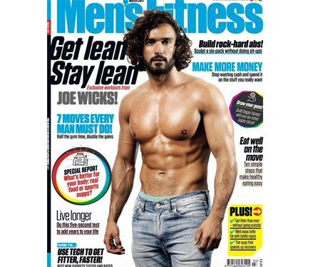 The Body Coach on the cover of Men's Fitness
