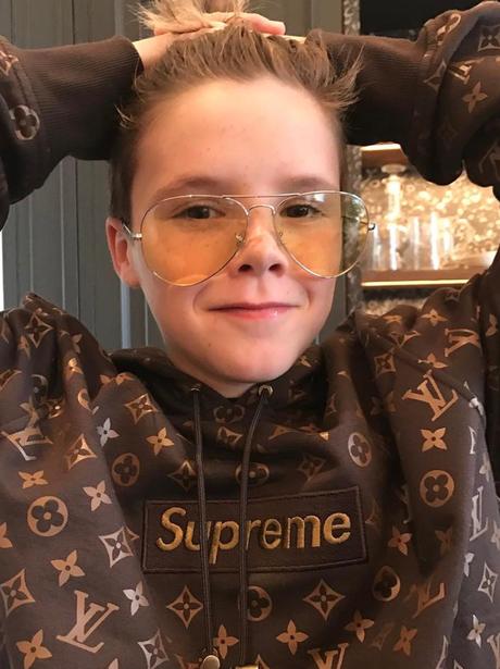 Cruz Beckham wears the new Supreme x Louis Vuitton