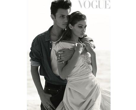 Gigi and Anwar Hadid pose for British Vogue