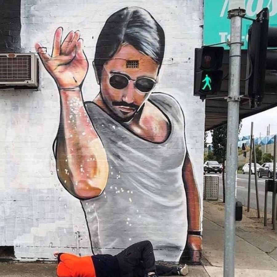 Salt Bae Grafitti