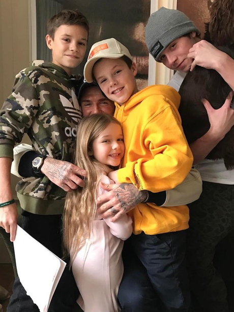 The Beckham kids share the love for Dad, David