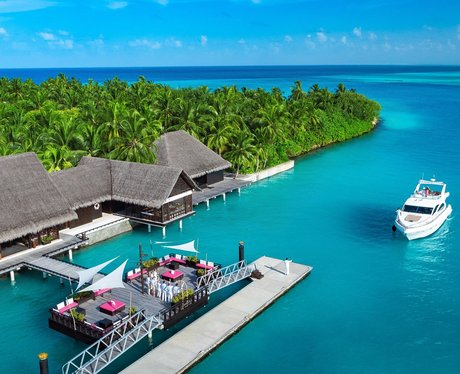 The resort where the Beckham's stayed in the Maldi
