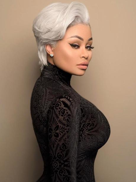 Blac Chyna with grey hair