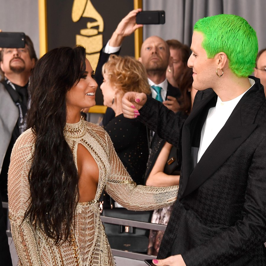 Demi Lovato and Mike Posner The 59th GRAMMY Awards