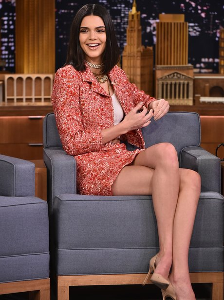 Kendall Jenner wears Chanel to appear on Jimmy Fal