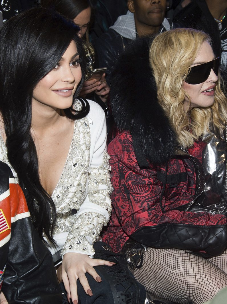 Kylie Jenner and Madonna at Philipp Plein