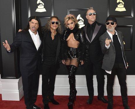Lady Gaga with Metallica Grammy Awards 2017