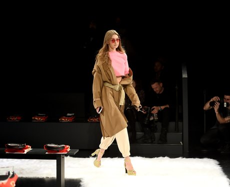 New York Fashion Week Catwalk Gigi Hadid for Jerem