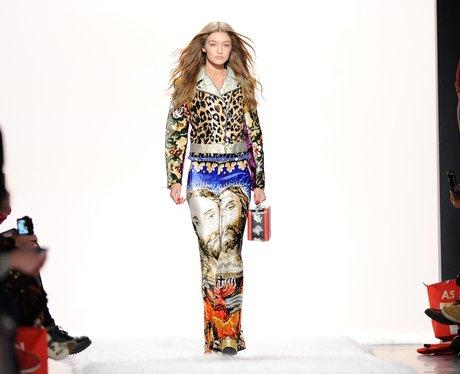 New York Fashion Week Catwalk Gigi Hadid for Jerem