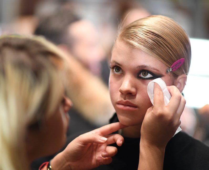 NYFW Make Up Sofia Richie at Philipp Plein