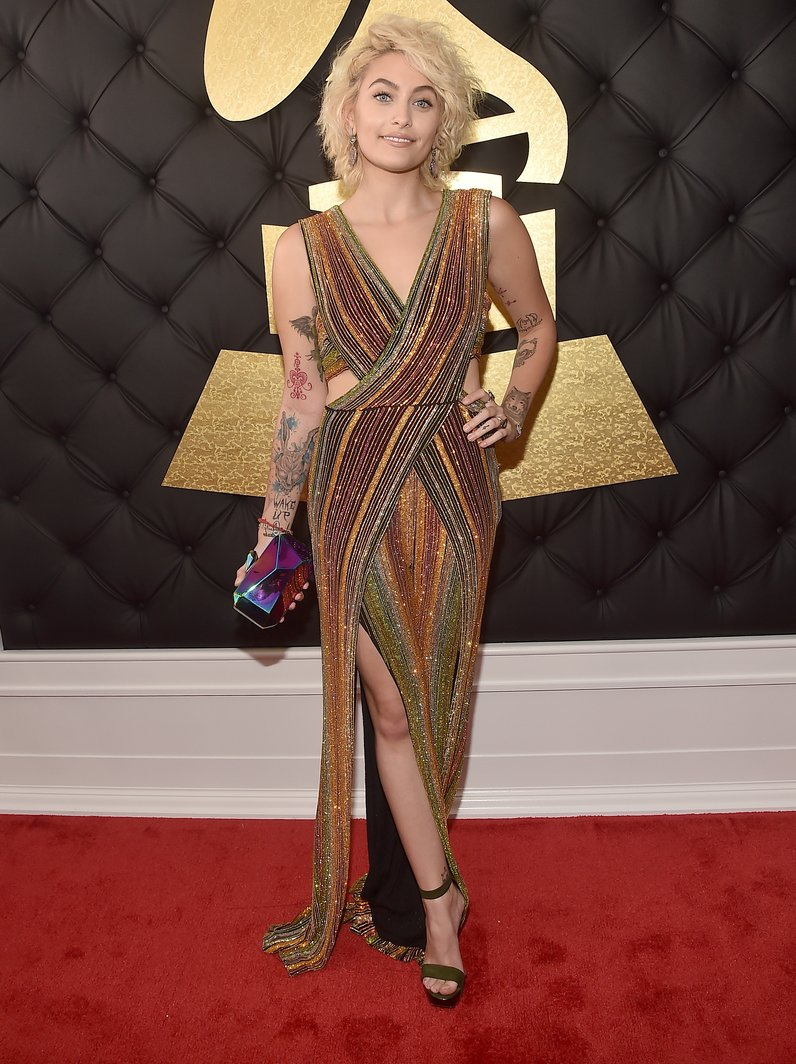 Paris Jackson at the Grammy Awards 2017