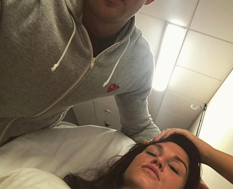 Vicky Pattison spends Valentine's Day in hospital