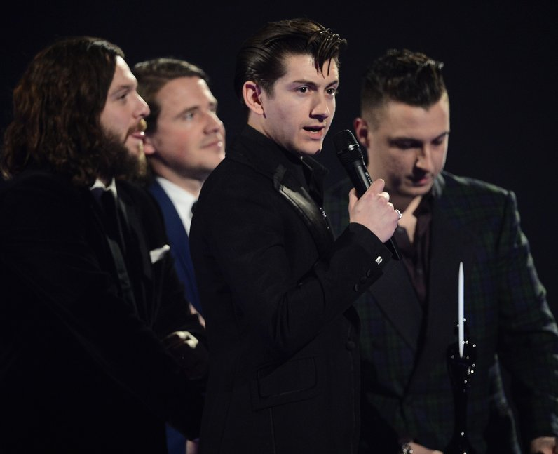 Alex Turner Arctic Monkeys BRIT Awards 2014