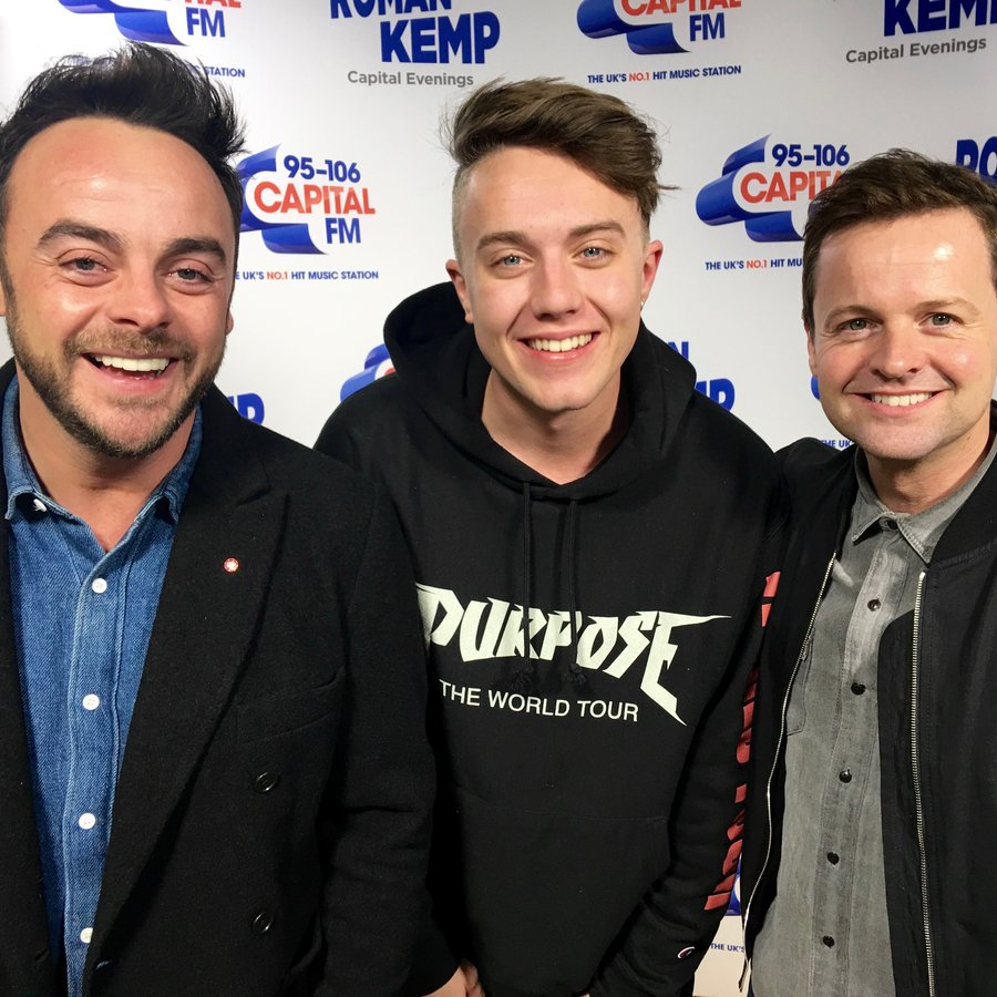 Ant & Dec with Roman Kemp