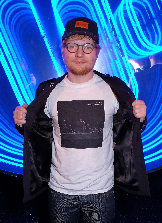 Ed Sheeran at the BRITs Afterparty