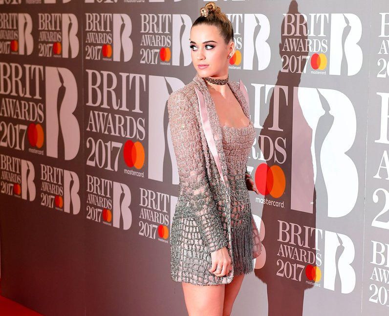 Katy Perry BRITs 2017 Red Carpet Arrivals