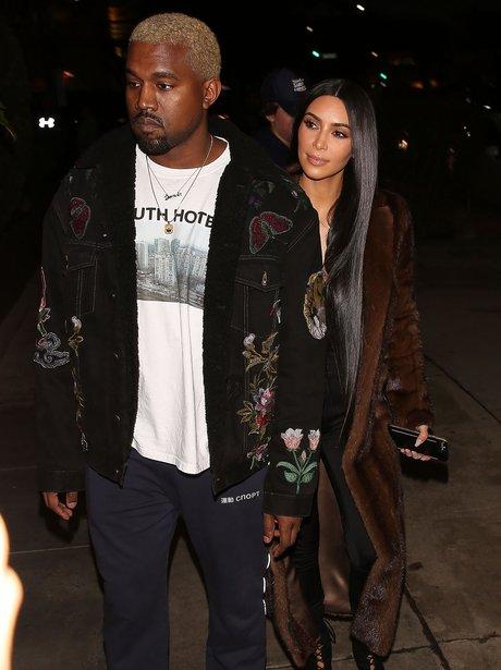 Kim Kardashian joins Kanye West for dinner