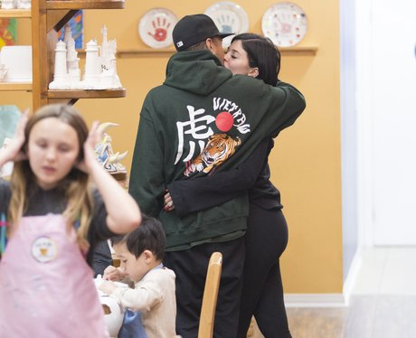 Kylie Jenner and Tyga pack on the PDA at Colour Me