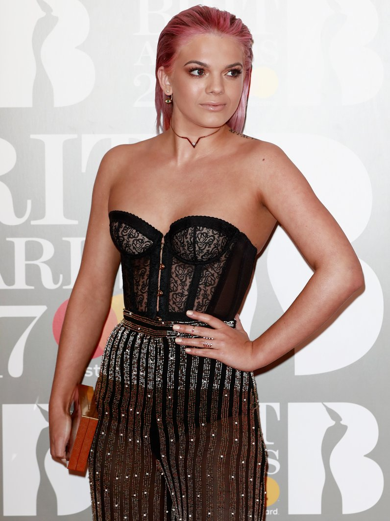 Louisa Johnson BRITs 2017 Red Carpet Arrivals