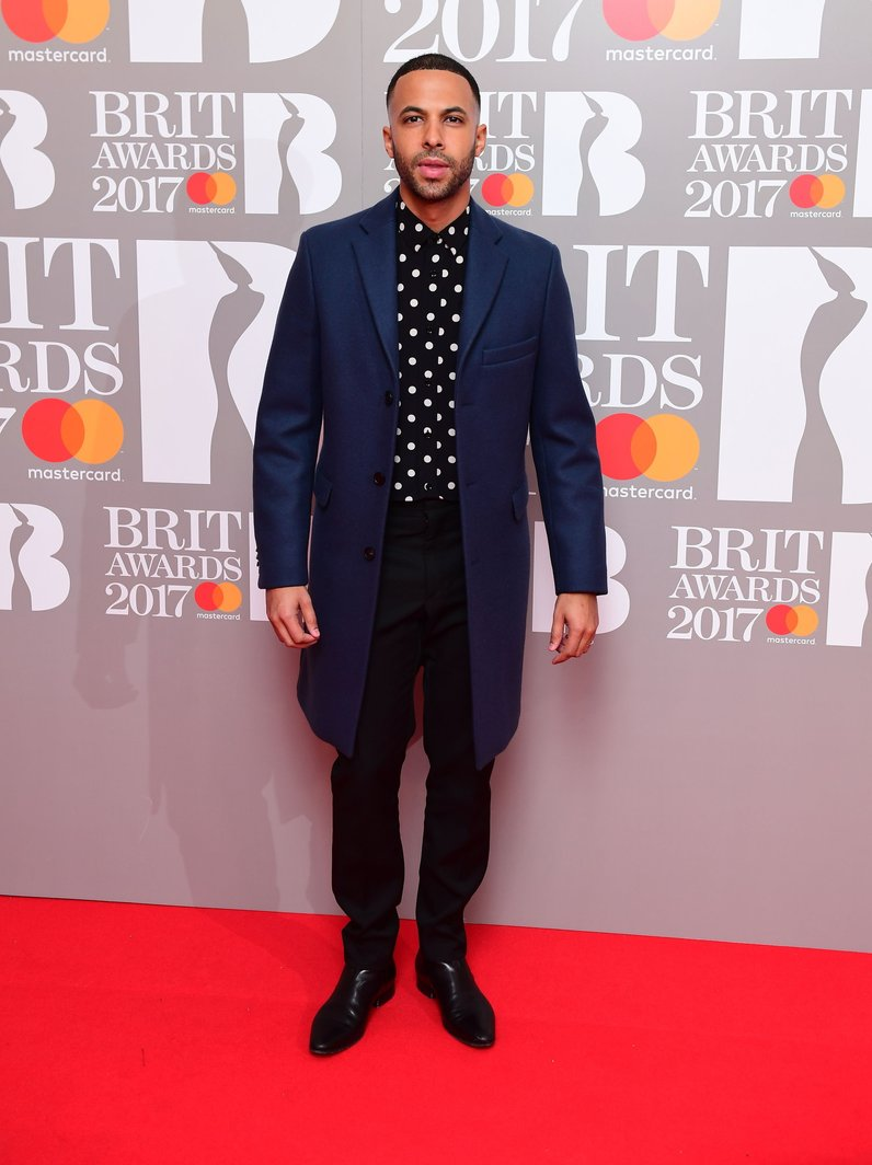 Marvin Humes BRITs 2017 Red Carpet Arrivals