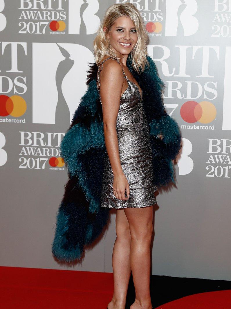 Mollie King BRITs 2017 Red Carpet Arrivals